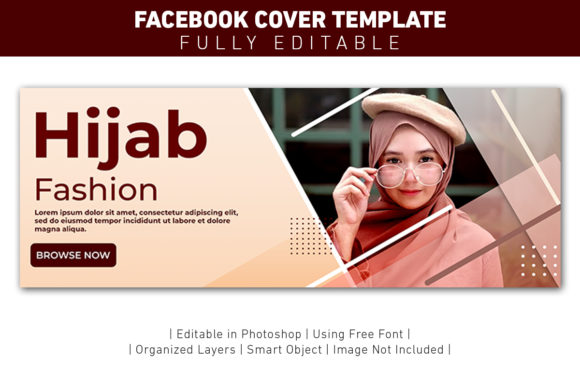 Banner Facebook Cover Hijab Fashion Graphic Graphic Templates By ant project template