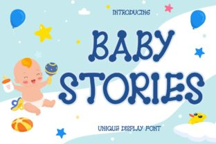 Print on Demand: Baby Stories Display Font By Alfinart