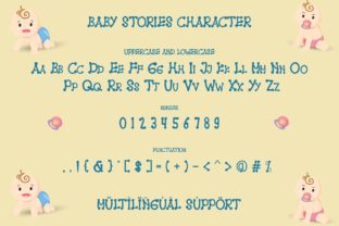Print on Demand: Baby Stories Display Font By Alfinart 6