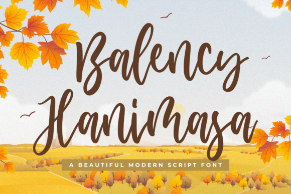 Print on Demand: Balency Hanimasa Script & Handwritten Font By creakokunstudio