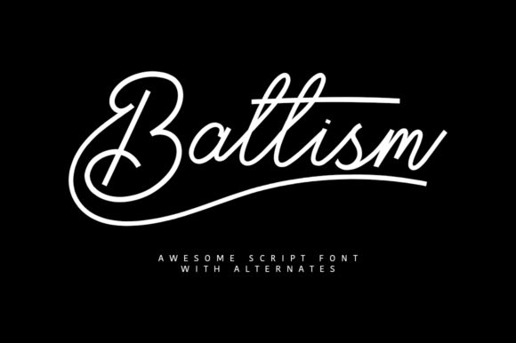 Print on Demand: Baltism Script & Handwritten Font By Maulana Creative