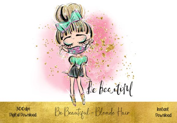 Be Beautiful - Blonde Hair Graphic Illustrations By STBB