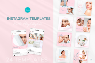 Print on Demand: Beauty Pink Instagram Canva Tempates Graphic Instapage By milagro.mst