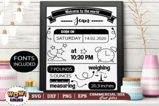 Print on Demand: Birth Announcement Template Graphic Illustrations By Wowsvgstudio