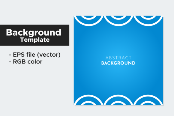 Print on Demand: Blue Geometric Square Background Graphic Backgrounds By Broc Simple