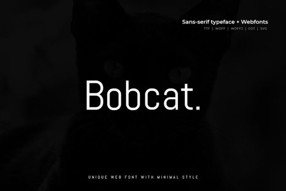 Print on Demand: Bobcat Sans Serif Font By Webhance