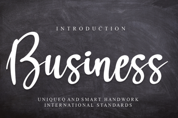Print on Demand: Business Script & Handwritten Font By Micro77 type