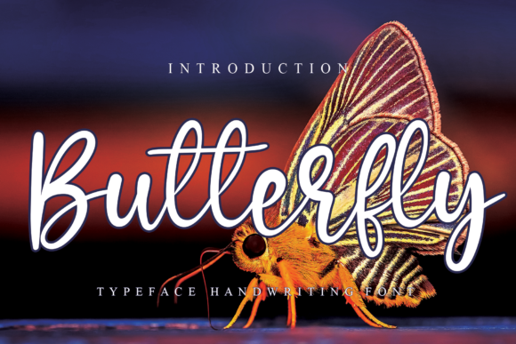 Print on Demand: Butterfly Script & Handwritten Font By Micro77 type