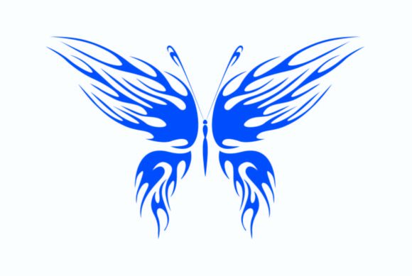 Print on Demand: Butterfly with Big Blue Wings Graphic Illustrations By nisakaart