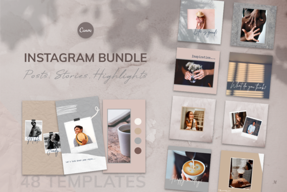 Print on Demand: Canva Instagram Templates. Social Media Graphic Instapage By milagro.mst