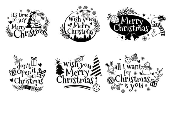 Christmas Clipart for Best Craft Design Graphic Illustrations By onoborgol