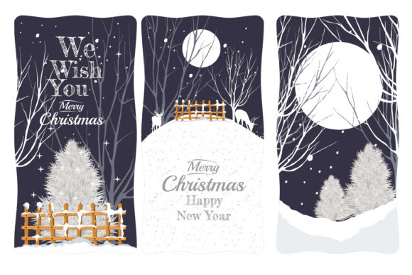 Print on Demand: Christmas Creative Banner with Snow Graphic Illustrations By edywiyonopp