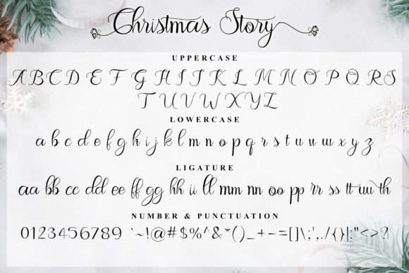Christmas Story Font Design Item