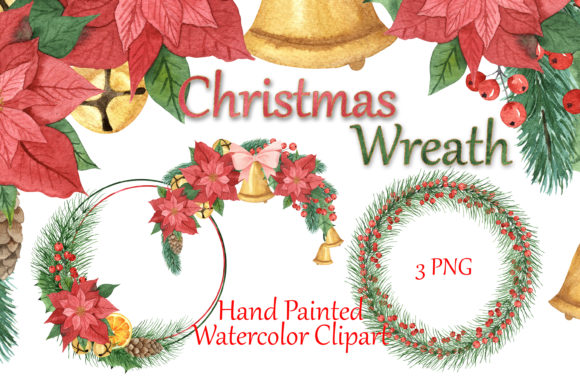 Christmas Frames. Watercolor Clipart. Graphic Illustrations By outlander1746