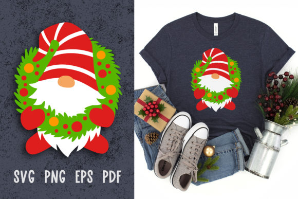 Christmas Gnome Svg File for Cricut Graphic Crafts By GreenWolf Art