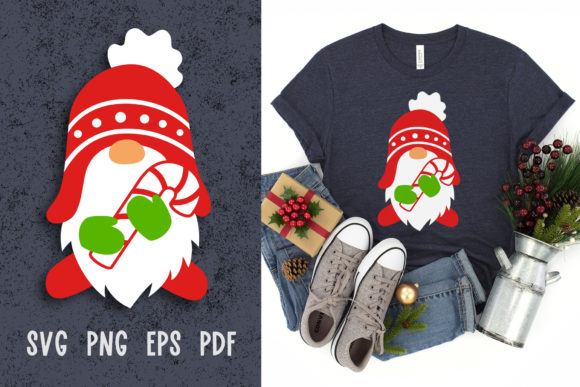 Christmas Gnome Svg for Paper Cutting Graphic Crafts By GreenWolf Art