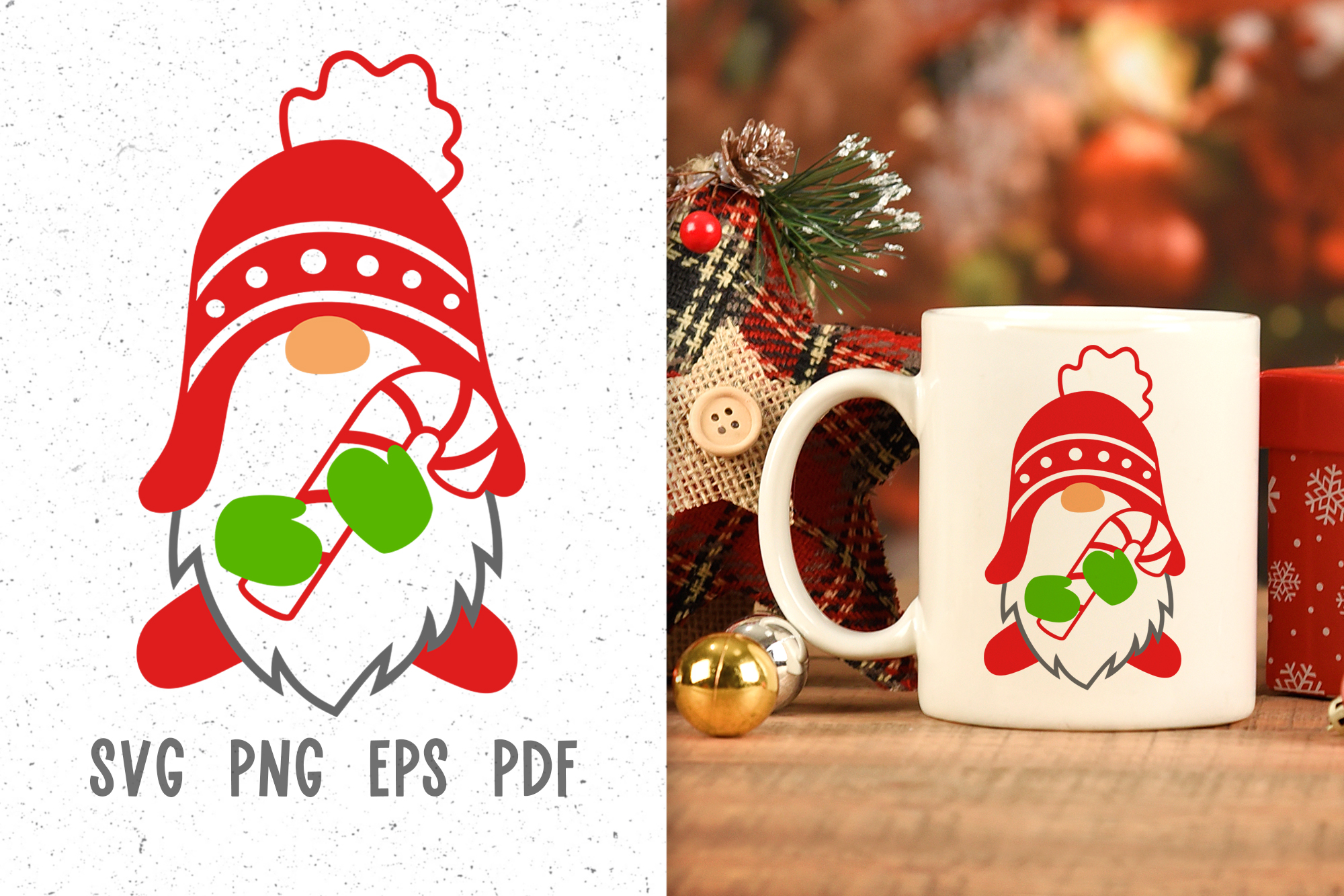 Christmas Mug Design With Gnome Svg Graphic By Greenwolf Art Creative Fabrica