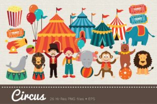Colorful Circus Clipart Vector PNG Graphic Illustrations By peachycottoncandy