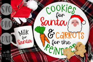 Cookies and Carrots, Christmas, Plate Graphic Crafts By adelinenco