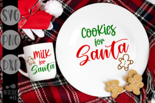 Cookies and Milk for Santa, Christmas Graphic Crafts By adelinenco
