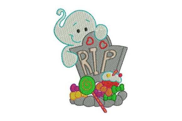 Cute Ghost Halloween Embroidery Design By BabyNucci Embroidery Designs