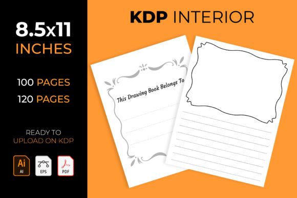 Draw and Write Journal - Kdp Interior Graphic KDP Interiors By medelwardi