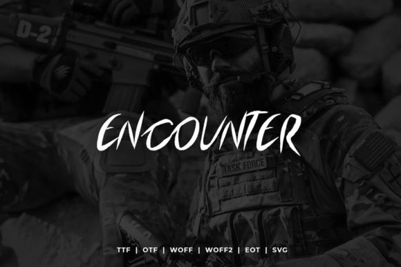 Print on Demand: Encounter Display Font By Webhance