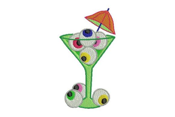 Eyes Cocktail Halloween Embroidery Design By BabyNucci Embroidery Designs