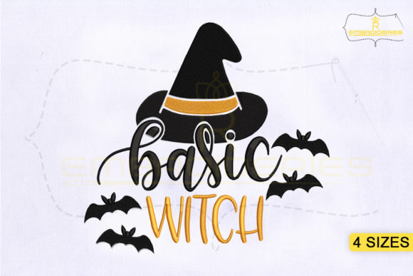 Halloween Basic Witch Halloween Embroidery Design By RoyalEmbroideries