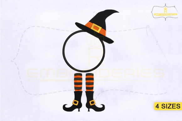 Halloween Elf Monogram Halloween Embroidery Design By RoyalEmbroideries