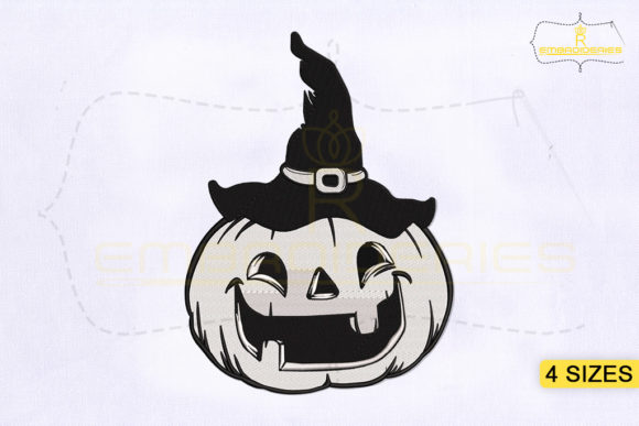 Halloween Pumpkin Halloween Embroidery Design By RoyalEmbroideries