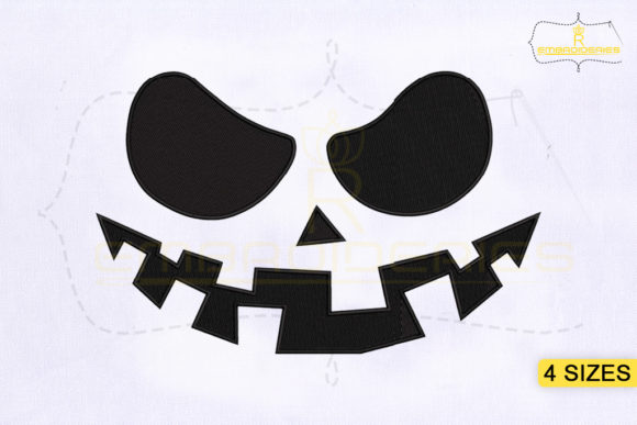 Halloween Pumpkin Face Halloween Embroidery Design By RoyalEmbroideries