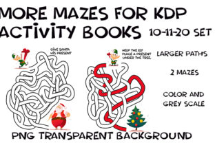 Print on Demand: Hand Draw Weave Mazes Transparent Xmas Graphic KDP Interiors By Kathryn Maloney
