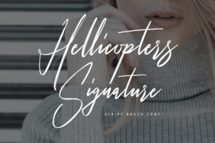 Print on Demand: Hellicopters Script & Handwritten Font By Maulana Creative