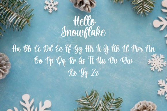 Hello Snowflake Font Popular Design