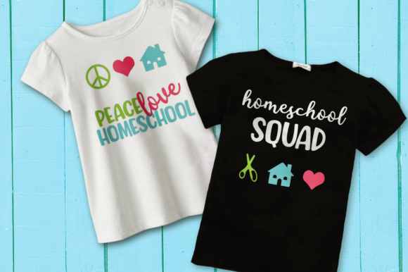 Homeschool SVG Duo Graphic Crafts By DesignedByGeeks