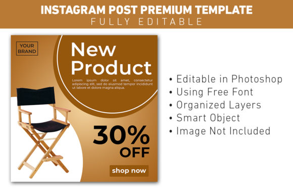 Instagram Post New Product Furniture Graphic Graphic Templates By ant project template