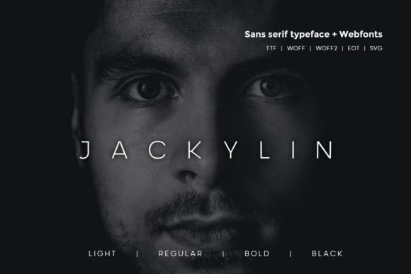 Print on Demand: Jackylin Sans Serif Font By Webhance