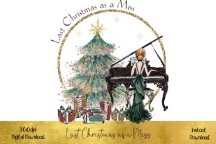 Last Christmas As a Miss - Red Hair Graphic Illustrations By STBB
