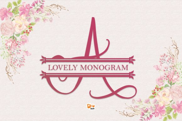 Print on Demand: Lovely Monogram Decorative Font By dmletter31