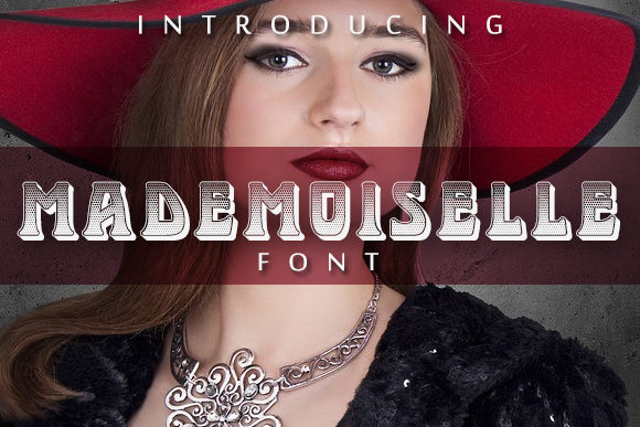 Print on Demand: Mademoiselle Display Font By vladimirnikolic