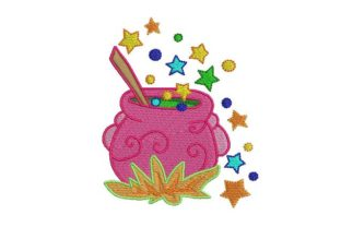 Magic Cacerole Halloween Embroidery Design By BabyNucci Embroidery Designs