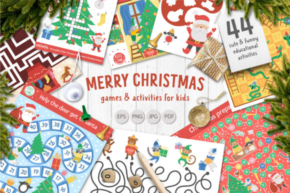 Merry Christmas Games and Activities Graphic Teaching Materials By lexiclaus