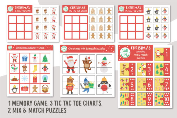 Merry Christmas Games and Activities Graphic Graphic