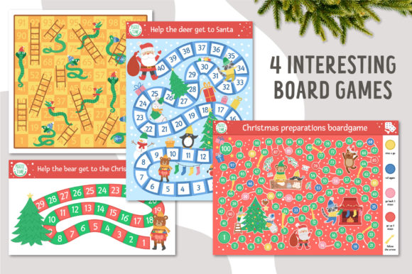 Merry Christmas Games and Activities Graphic Download