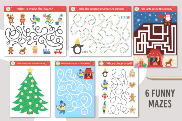 Merry Christmas Games and Activities Graphic Item