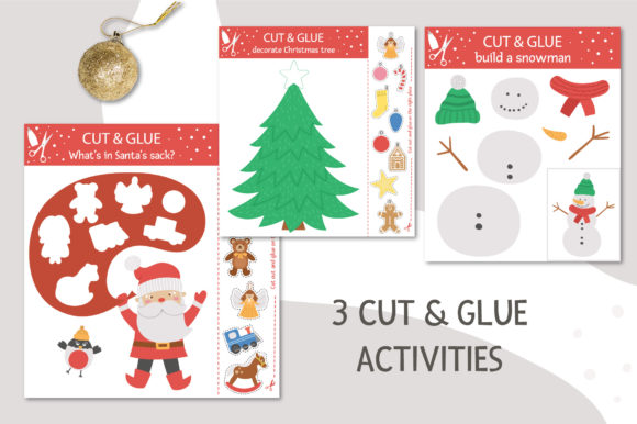 Merry Christmas Games and Activities Graphic Preview