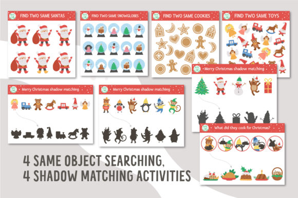 Merry Christmas Games and Activities Graphic Image