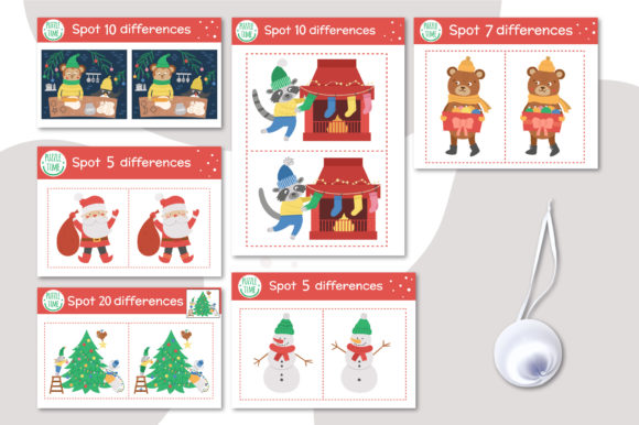 Merry Christmas Games and Activities Graphic Popular Design