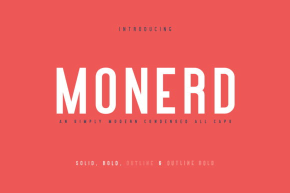 Print on Demand: Monerd Sans Serif Font By Maulana Creative